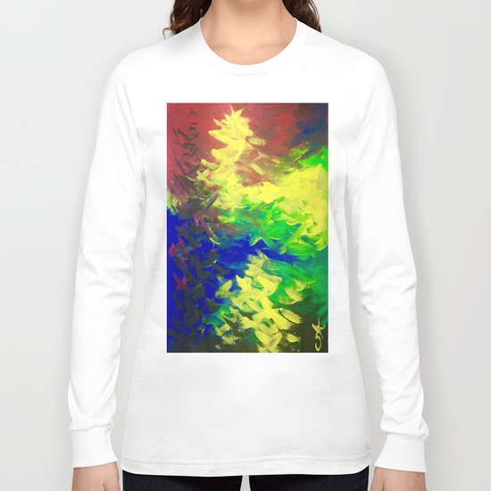 Peacock. Mimosa Inspired Primary Colors. Peacock. Long Sleeve T-shirt