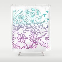 Equanimity / Square / Pink Blue Shower Curtain