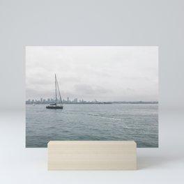 Sailboat on the Horizon - New York, NY - Photography Mini Art Print