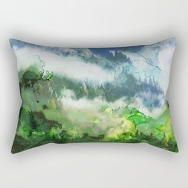 Snowy Mountain Peaks Rectangular Pillow