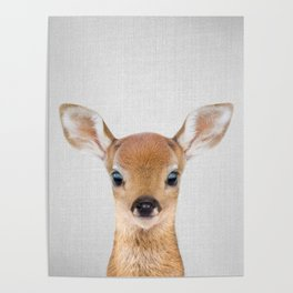 Baby Deer - Colorful Poster