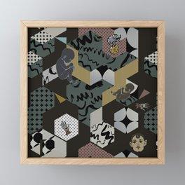 Cosmic child | Chocolate version Framed Mini Art Print