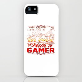 In love with a Gamer iPhone Case