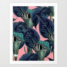 Tropical Flower Pattern #society6 #decor #buyart Art Print