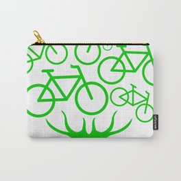 Bike Tree Cyclist Bicycle Earth Day Environment Tee Shirt Carry-All Pouch
