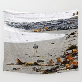 Greater Yellowlegs Strolling on the Beach Wall Tapestry