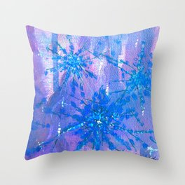 Abstract Flower Painting Design By Catherine Coyle Throw Pillow