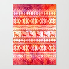 Reindeer Sweater Color Option Canvas Print