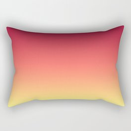 Red Orange Coral Yellow Gradient Ombre Pattern Rectangular Pillow