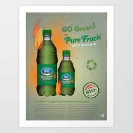 Go Greenwash Art Print