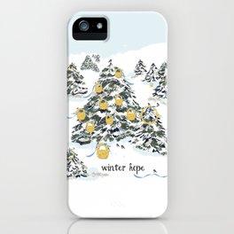 WINTER hope iPhone Case