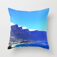 south africa Throw Pillows featuring South Africa Impression 10 by Art-Motiva