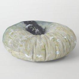 Nature Spirit - painting Floor Pillow