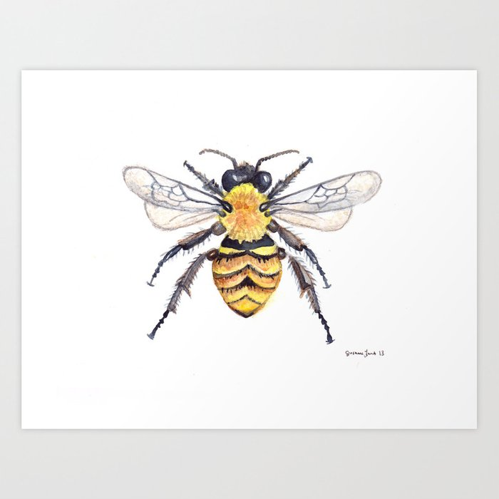 Watercolor Bee Kunstdrucke