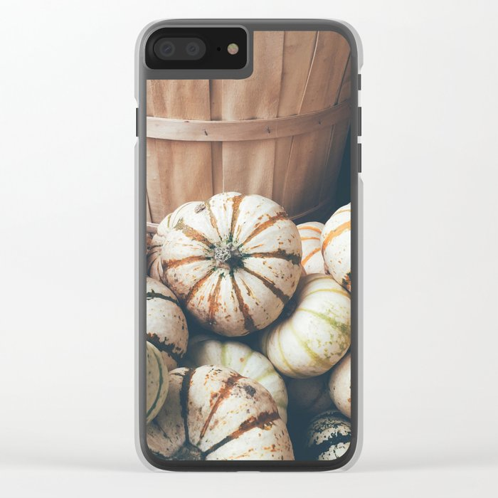 Autumn Pumpkins Clear iPhone Case