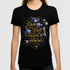 A Court of Mist and Fury - To The Stars LARGE Black Womens Fitted Tee