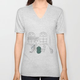 Get Off Your Phone and Socialize Unisex V-Neck