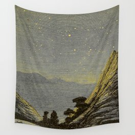 Astronomy for amateurs - 1904 Star Night Sky Landscape Wall Tapestry