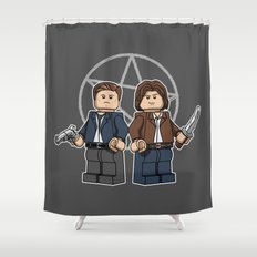 The Brickchesters Shower Curtain