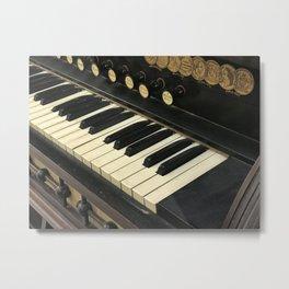 Organ Keys Metal Print