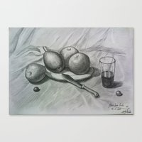 fruits Canvas Prints featuring Fruits by Sugarless Daydreams