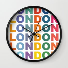 Retro London England poster Wall Clock