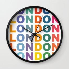 Retro London England poster Wall Clock