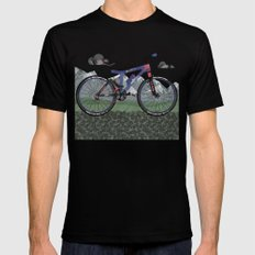 Mountain Bike Black LARGE Mens Fitted Tee