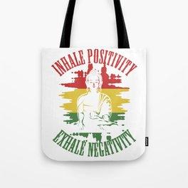 Positive Yoga Meditation Buddha Tote Bag