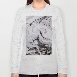 Elegant dark swirls of marble Long Sleeve T-shirt