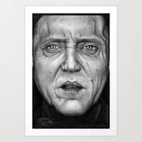 christopher walken Art Prints featuring Christopher Walken by ColleenTrillow