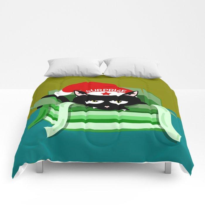 Naughty Cat Surprise Comforters