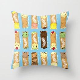 Cat-nnoli Throw Pillow