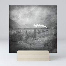 """""""Glenfinnan b&w"""" Mini Art Print"""