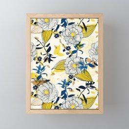 Flowers patten1 Framed Mini Art Print