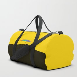 Colorful Umbrella On A Black Mountain In A Yellow Background - #society6 #buyart Duffle Bag