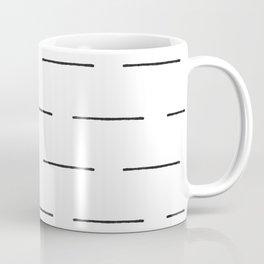 Block Print Lines in Black and White Coffee Mug