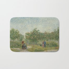 Vincent van Gogh - Garden with Courting Couples: Square Saint-Pierre (1887) Bath Mat