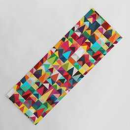 Abstract Geometric Mountains Yoga Mat