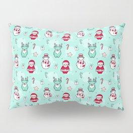 Christmas Santa claus Reindeer and snowman Pillow Sham