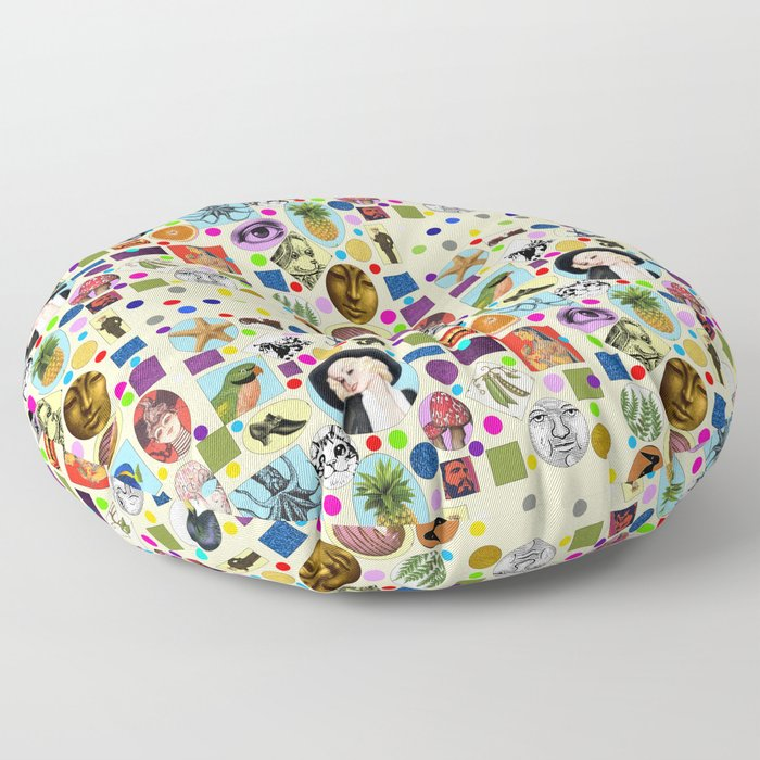 It's Mad, Mad, Mad, Mad World (Beige) Floor Pillow
