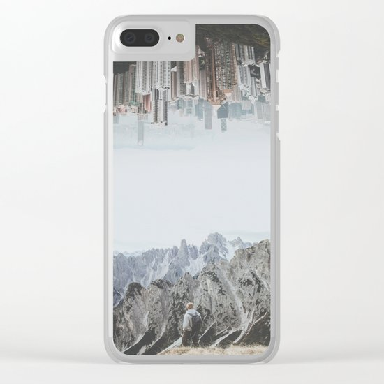Between Earth & City II Clear iPhone Case