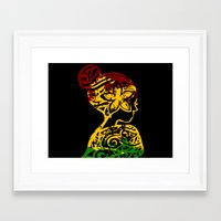 rasta Framed Art Prints featuring Rasta Lady by Lonica Photography & Poly Designs