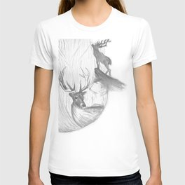 Stag and man T-shirt