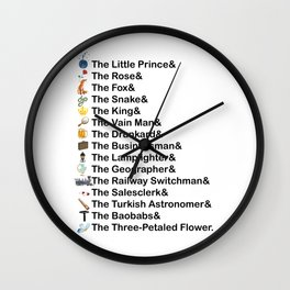 Little Prince Names Wall Clock