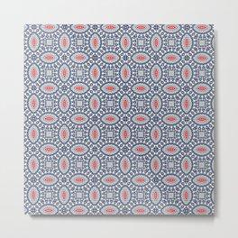 Pool Parlor Pattern Metal Print