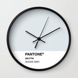 Suicide Grey Wall Clock