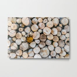 Logged Metal Print