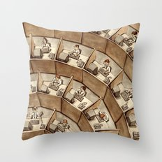 The Rings of Cubicle Hell Throw Pillow
