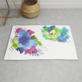 180802 Beautiful Rejection 14| Colorful Abstract Rug